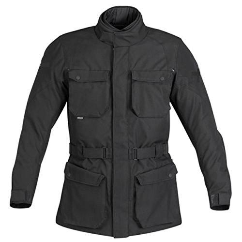 *Herren Designer Textil biker motorrad wasserdichte Jacke Rüstung, Farbe schwarz, L*