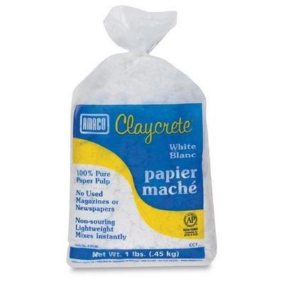 claycrete-paper-mache-1lb-white