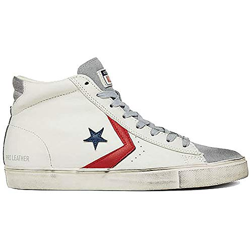 190e7ac55bd65f Converse Lifestyle Pro Leather Vulc Distressed Mid, Sneakers Basses Mixte  Adulte, Multicolore (Light