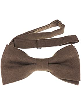 Mens lujo Suede look noche negro corbata pajarita