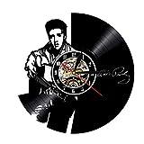 Elvis Presley Wanduhr Der König Der Rock Uhren Modernes Design Schallplatte Wanduhr Quarz-Mechanismus 3D Dekorative Hängen
