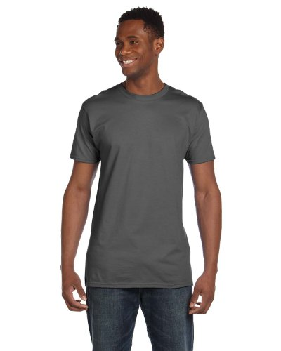 Hanes 4980 Mens Nano T-Shirt 1 Deep Navy + 1 Smoke Grey