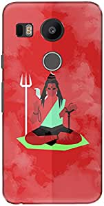 The Racoon Grip printed designer hard back mobile phone case cover for LG Nexus 5X. (shiva mini)