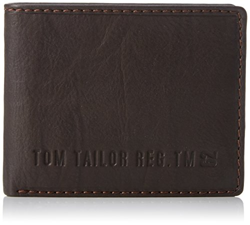 TOM TAILOR Acc Herren Harry Geldbörsen, Braun (Braun 29), 10x8x2 cm (Color Block-echtes Leder)