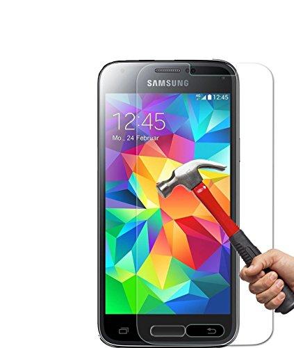 Vada-Tech | 2x bruchsicheres Panzerglas für Samsung Galaxy S5 Mini| Schutzfolie aus 9H Echtglas | Schutzglas zur Vermeidung von Displayschaden | blasenfreie Anbringung | 2 Stück (Wie Zeichnet Ein Stück)