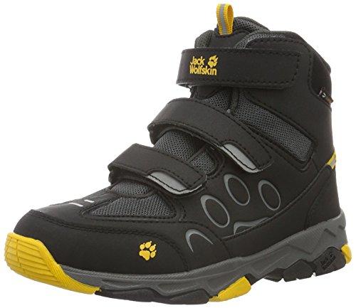 Jack Wolfskin Mtn Attack 2 Texapore Mid Vc K, Chaussures de Randonnée Basses Mixte Enfant Gris (Burly Yellow 3800)