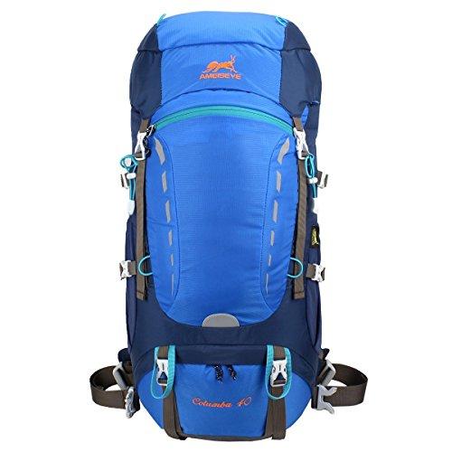 Imagen de eshow 40l  de senderismo al aire libre de nailon impermeable montaña  de viaje para hombre y mujer color azul