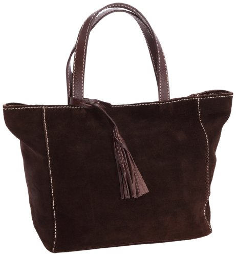 Loxwood Ramita PM Croûte Velours, Damen Shopper Braun (Testa)