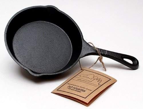 Iwgac Home Indoor Decorative Collectibles Old Mountain Cast Iron Preseasoned Skillet by IWGAC Old Mountain Cast Iron Skillet