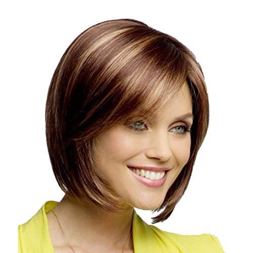 YZ-YUAN Perücken Blonde Kurze Blonde Haarteil für Frauen, -