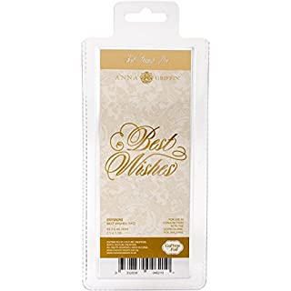 Couture Creations Best Wishes Hot Foil Stamp Die, Metal Grey, 22.9 x 9.9 x 0.8 cm