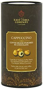 The East India Company White Chocolate Enrobed Cappuccino Coffee Beans 220 g by The East India Company Fine Foods Ltd