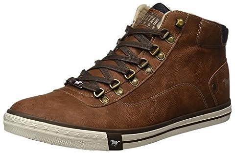 Mustang Herren 4103-601-301 Hohe Sneaker, Braun (Kastanie), 47 EU