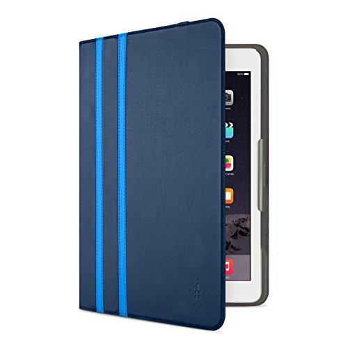 Belkin Universal Twin Stripe Schutzhülle (für Tablets, Apple iPad Air, iPad Air 2, iPad 2017, Samsung Galaxy Tab A (10 Zoll), S2 (10 Zoll)) dunkelblau