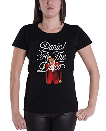 Shirt Brendon Urie Nue offiziell damen Schwarz Skinny Fit (Disco T-shirts)