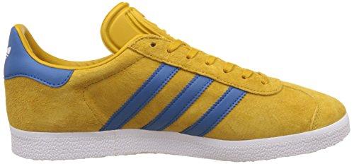 adidas Gazelle, Scarpe da Ginnastica Basse Unisex – Adulto Yellow Blue Gold