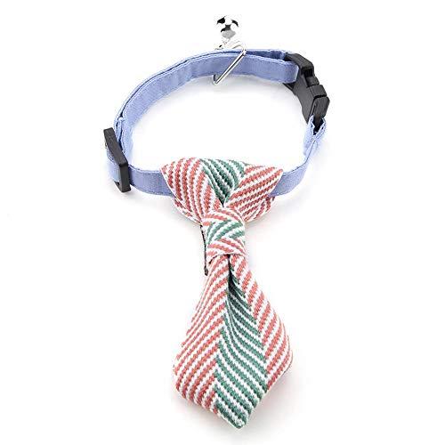 ge Hundekrawatte Haustier Krawatte Halsbinde Schlips Hundefliege Kostüm Krawatte Kragen mit Glocke für Hund Katze in Hochzeit Party(M-grün) ()