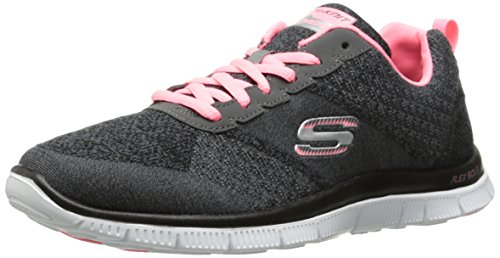 Skechers (SKEES) Flex Appeal- Simply Sweet, baskets sportives femme gris (CCPK)