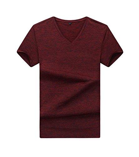 Männer Sommer Art Und Weise Kurze Hülse Arbeiten Einfache Lost Größe Einfarbig Kurzhülse T-Shirts Red