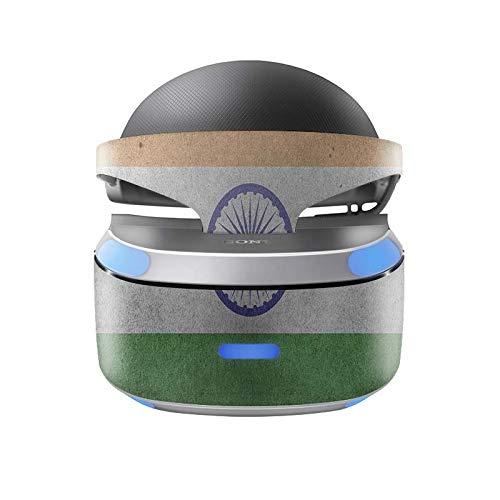 Skins4u Aufkleber Design Schutzfolie Vinyl Skin kompatibel mit Sony PS4 Playstation 4 VR Brille Indien