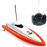 TOYEN TG800 RC Boat Barco eléctrico de alta velocidad con control remoto para Kid- Orange (El motor y la paleta solo funcionan en agua)