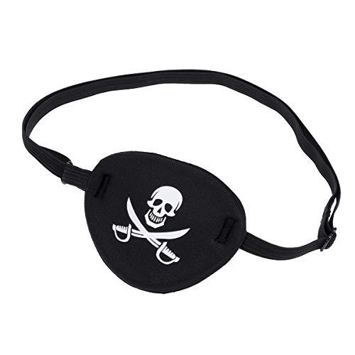 VORCOOL Piraten-Schädel Kinder Kinder Augenklappe Augenmaske für Lazy Eye (Schwarz)