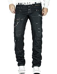 Kosmo Lupo k&m 020-1 Designer Jeans Loisirs Pantalon de Clubwear Dope Cargo Black Style W29-W40 Hommes / L32-L34