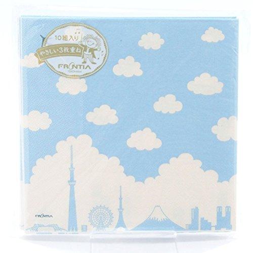 e japanische Muster-Serie -, Papier-Handtuch,Serviette, 10er-Pack - Japan Import - Cloud & Siloutte von Tokio PNK-049 Blaue und weiße Farbe ()