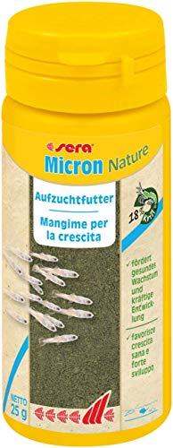 sera Micron ein Plankton bzw. Staubfutter oder Jungfischfutter & Niedere Tiere mit Präbiotika für verbesserte Futterverwertung, steigert das Wachstum und geringere Wasserbelastung & weniger Algen