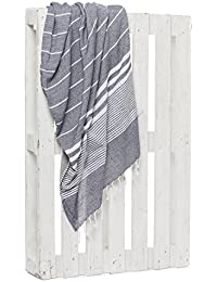 Montse Interiors Toalla Pareo Playa Reversible Tejida (Grey-1)