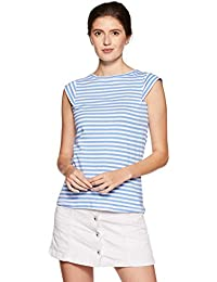 Amazon Brand - Symbol Women's Striped Slim Fit T-Shirt