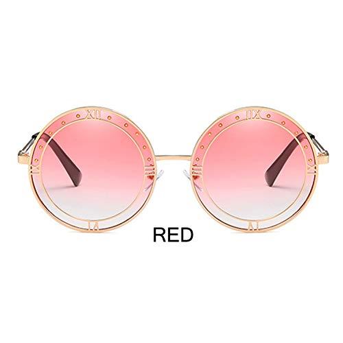 ZRTYJ Sonnenbrillen Trendy Transparente Grüne Linse Sonnenbrille Frauen Runde Hochwertige Echte Farbe Hip Hop Mens Korea Brille
