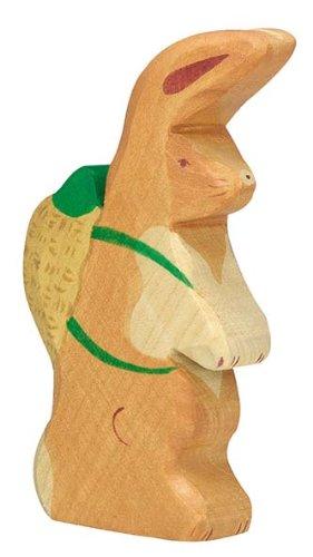 Holztiger Osterhase mit Rucksack, 80103
