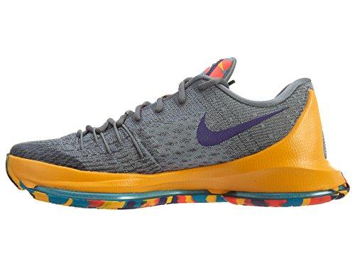 Nike  Kd 8, espadrilles de basket-ball homme Gris / violet / gris / bleu (gris loup / violet terrain / gris froid / lagon bleu)