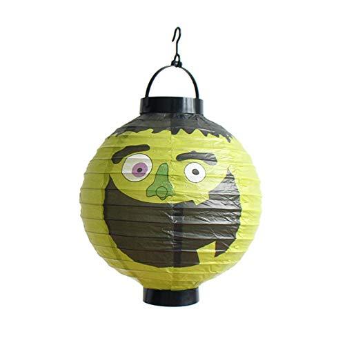 TIREOW LED Papier Halloween Hängende Laterne Fledermaus Spinne -