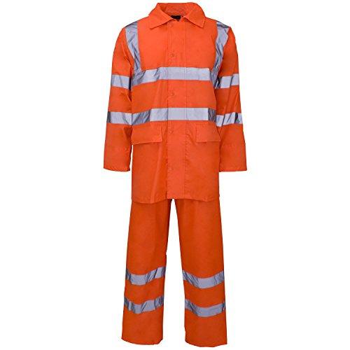 Supertouch 18885 PVC/Polyester, HI-VIS Regenjacke, Orange Orange Rainsuit