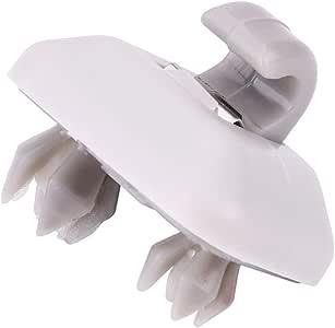 Argento clip per visiera parasole interna adatta per Au-di A1 A3 S3 A4 S4 A5 S5 Q3 Q5 TT Quatt-ro 8E0857562A EVGATSAUTO Gancio per visiera parasole