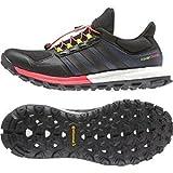 adidas Adistar Raven Boost Scarpe da Trail Corsa–AW15, Nero (Black/Flash Red), 42 2/3 EU