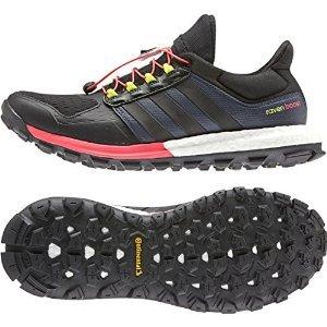 adidas Outdoor 2015 Women's AdiStar Raven Boost Trail Running Shoes - B25108 (Black/Black/Flash Red - 10.5)