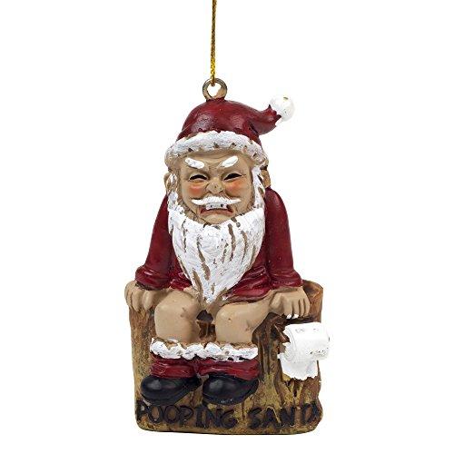 """Baum Schmuck """"CHIMNEY POOPING SANTA"""" Weihnachtsmann Weihnachtsbaum Dekoration"""