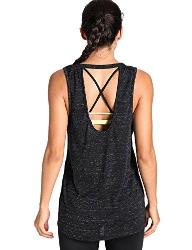 Meliwoo - Camiseta Yoga Tirantes Prendas Deportivas
