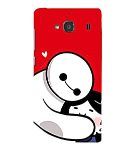 EPICCASE Teddy Hug Mobile Back Case Cover For Mi Redmi 2 Prime (Designer Case)