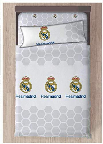 Real Madrid Referencia NI Juegos de sábanas y Fundas de Almohada Alfileres para faldón de Cama Textiles...