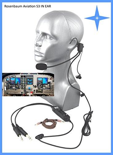 Rosenbaum Aviation ® Piloten Headset S3 in Ear - Allgemeine Luftfahrt, UL (Aviation Headset)