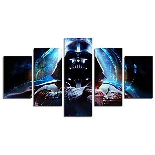 H. Cozy 5Panel Modern Art Wandbild Stormtrooper Star Wars Film Poster Wall Dekoration Malerei Fine Art Print auf Leinwand (ungerahmt), Das Produkt Hat Keine Rahmen far41127x 76,2cm -