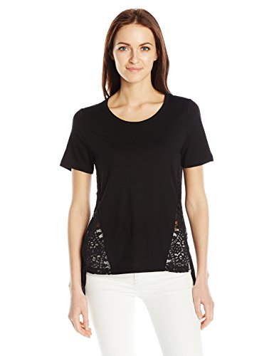 French Connection Women's Hopper Lace Top, Black, M (Lace French Top)