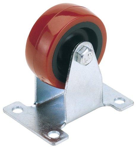 DIA 50MM DRAPER. FIXE roue en polyur?thane PLAQUE DE FIXATION - S.W.L. 75KG