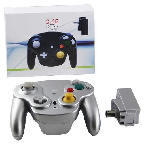 Für Nintendo Gamecube Controller, innext 2,4GHz Wavebird Stil Wireless Gamecube GC Controller Gamepad Joystick mit Empfänger-Adapter für Classic Nintendo Gamecube GC NGC WII Video Game Konsole -