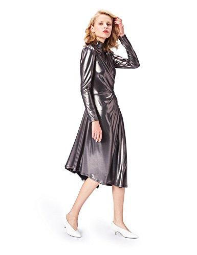find. 70229A vestito da sera donna, Argento (Gunmetal), 44 (Taglia Produttore: Medium)