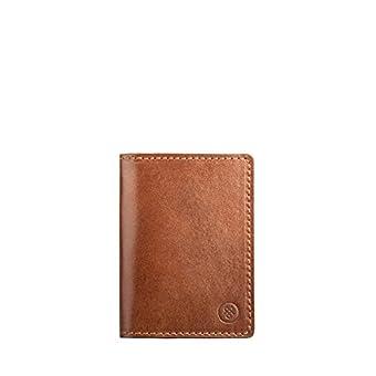 Maxwell Scott Bags® Cognacbrauner Leder Netzkartenhalter (Vallata)